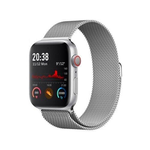 Фото - Умные часы BandRate Smart WTCH55WB, серебристый умные часы beverni smart watch t58 серебристый