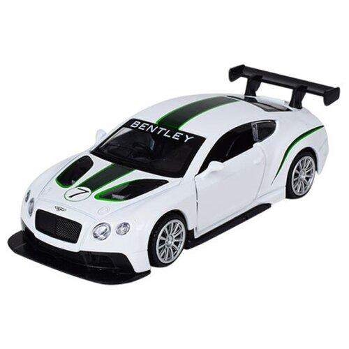 Легковой автомобиль Play Smart Автодром Bentley Continental GT3 (6625) 1:43 белый, Машинки и техника  - купить со скидкой