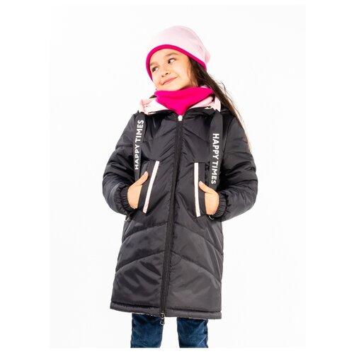 Пальто BOOM! by Orby 100007 размер 158, нежно-розовый/черный пальто boom размер 98 черный