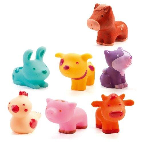 Купить Набор для ванной DJECO На ферме (09116) разноцветный, Игрушки для ванной