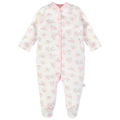 Купить Комбинезон Мамуляндия размер 68, молочный/розовый, Комбинезоны
