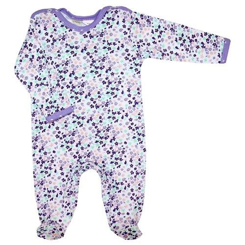 Комбинезон KotMarKot размер 68, белый/фиолетовый свитшот kotmarkot размер 68 серый фиолетовый