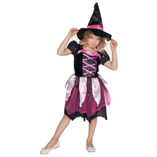 Купить Костюм ВКостюме.ру Маленькая Ведьмочка (1027656), черный, размер 128, Карнавальные костюмы