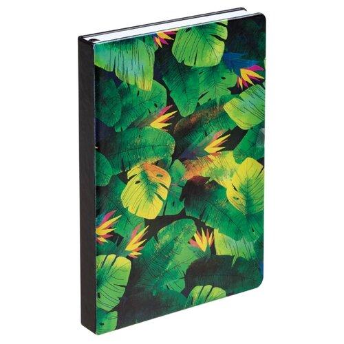 Ежедневник Принтэссенция Будь храбрым! недатированный, искусственная кожа, зеленый/черный