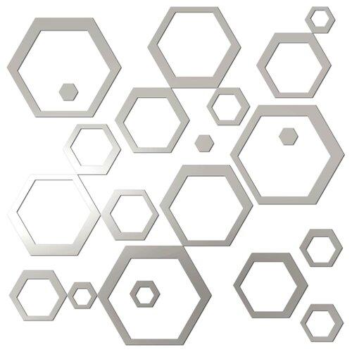 Комплект наклеек Ваша Светлость Элемент-3 зеркальные, многоразовые фото