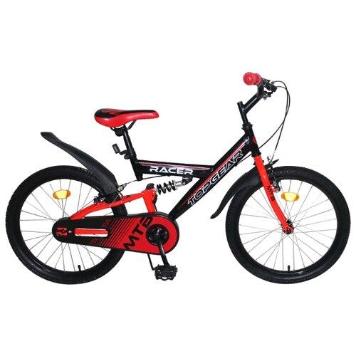 Фото - Подростковый горный (MTB) велосипед Top Gear Racer (BH20200) черный/красный (требует финальной сборки) горный mtb велосипед merida matts 7 20 2020 glossy purple lilac s требует финальной сборки