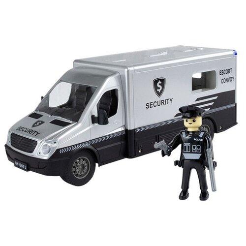 Фургон Double Eagle E673-003 1:18 33 см серебристый/черный