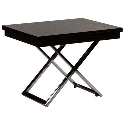 Стол кухонный Levmar Cross WE, раскладной, ДхШ: 101 х 80 см, длина в разложенном виде: 202 см, венге