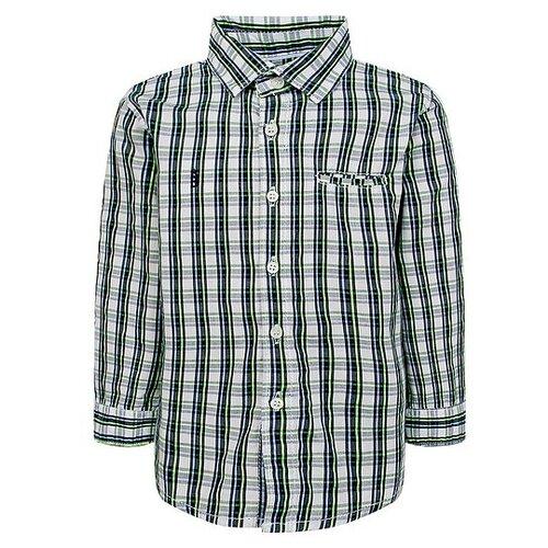 Фото - Рубашка Mayoral, размер 74, белый/синий/желтый свитер mayoral размер 74 синий