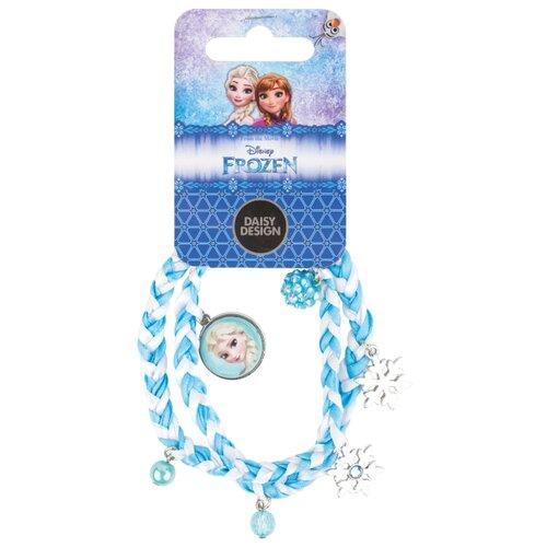 Купить Браслет Daisy Design Очаровательные снежинки голубой/белый, Украшения для девочек