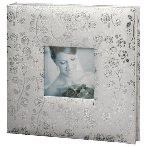цена на Фотоальбом BRAUBERG Свадебный под фактурную кожу (390690), 240 фото, серебристый