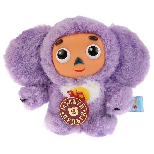 Купить Мягкая игрушка Мульти-Пульти Чебурашка фиолетовый 17 см, муз. чип, Мягкие игрушки
