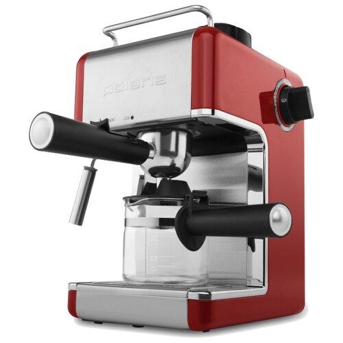 Кофеварка рожковая Polaris PCM 4002A красный/серебристый
