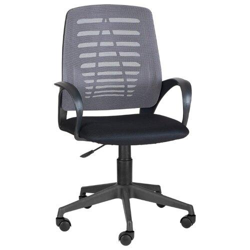 цена на Компьютерное кресло МЕБЕЛЬТОРГ Ирис офисное, обивка: текстиль, цвет: черный/серый TW-12