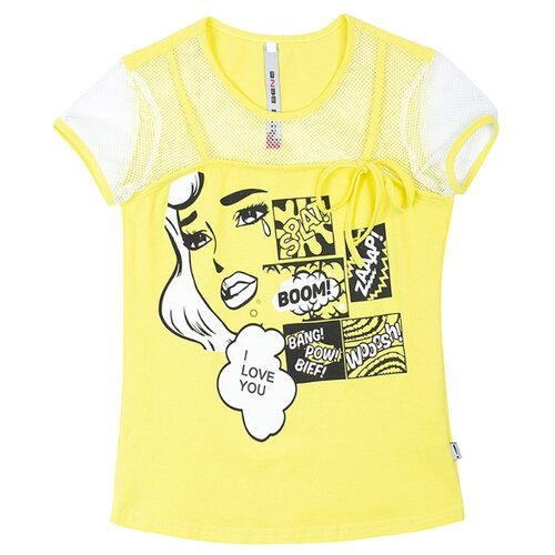 Футболка Nota Bene, размер 110, желтый футболка kogankids размер 110 желтый
