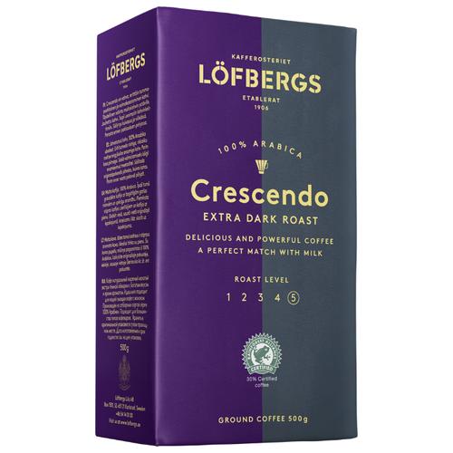 Кофе молотый Lofbergs Crescendo, 500 г кофе молотый lofbergs medium roast in cup 250 г