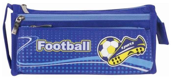 Купить Юнландия Пенал Футбол синий по низкой цене с доставкой из Яндекс.Маркета