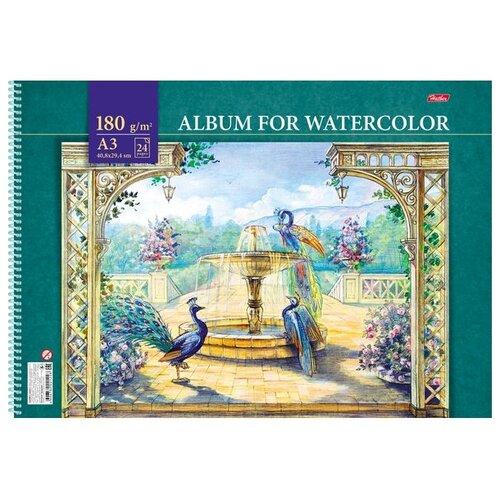 Купить Альбом для акварели Hatber Райский сад 42 х 29.7 см (A3), 180 г/м², 24 л., Альбомы для рисования