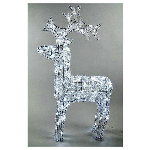 Фигурка Kaemingk Олень светящийся Ажурный 60 см (491942) белый по цене 6 246