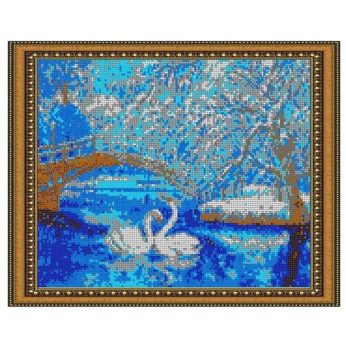 Светлица Набор для вышивания бисером Зимняя сказка 30 х 24 см, бисер Чехия (575П)