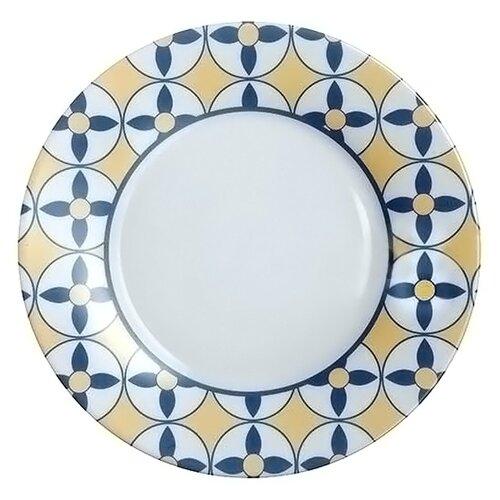 Luminarc Тарелка десертная Nordic Scandie 22 см синий/бежевый/белый тарелка закусочная десертная luminarc nordic epona d 22 см