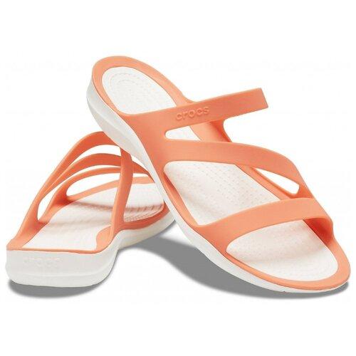 Шлепанцы Crocs Swiftwater Sandal, размер 36(W6), grapefruit/white