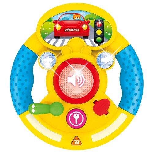 Купить Развивающая игрушка Азбукварик Музыкальный руль Я водитель желтый, Развивающие игрушки
