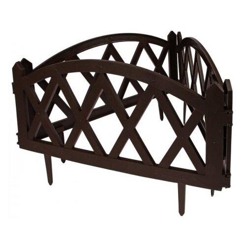 Забор декоративный Гарденпласт MODERN, шоколад, 2.4 х 0.26 м