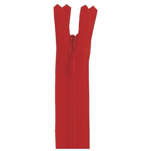 Купить YKK Молния потайная неразъемная 0004715/60, 60 см, темно-красный/темно-красный, Молнии и замки