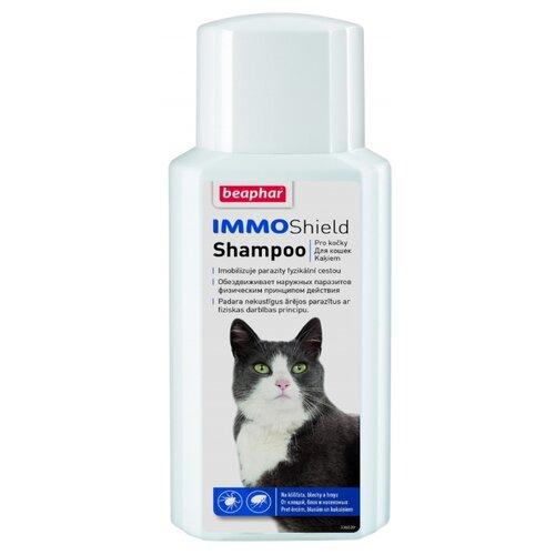 Beaphar шампунь от блох и клещей IMMO Shield Shampoo для кошек и котят 200 мл ошейник для кошек beaphar от блох и клещей 35см