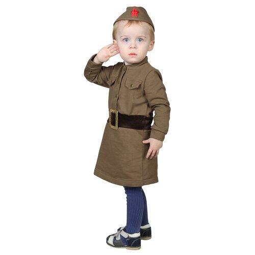 Купить Костюм Страна Карнавалия Военный (3270108-3270110), зеленый, размер 86, Карнавальные костюмы