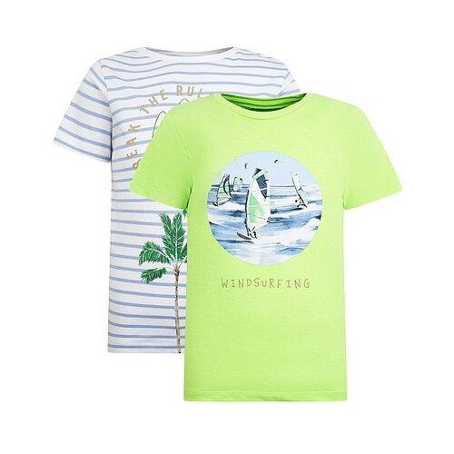 Купить Футболка Mayoral размер 92, белый/зеленый, Футболки и рубашки
