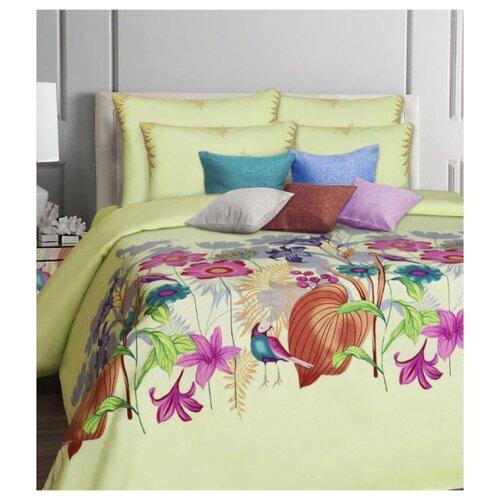 цена Постельное белье 2-спальное Mona Liza Malta 70х70 см, бязь зеленый онлайн в 2017 году