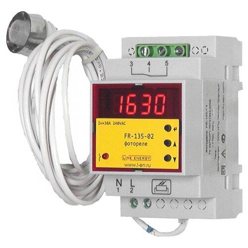Сумеречный выключатель для распределительного щита Line Energy FR-135-02 серый реле времени для распределительного щита feron 23205