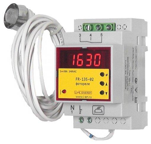 Сумеречный выключатель для распределительного щита Line Energy FR-135-02 серый