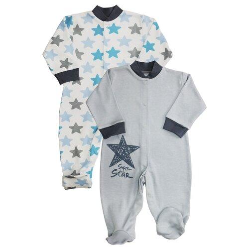 штанишки для мальчика веселый малыш one цвет голубой 33150 one c 1 размер 68 Комбинезон Веселый Малыш размер 68, голубой/серый