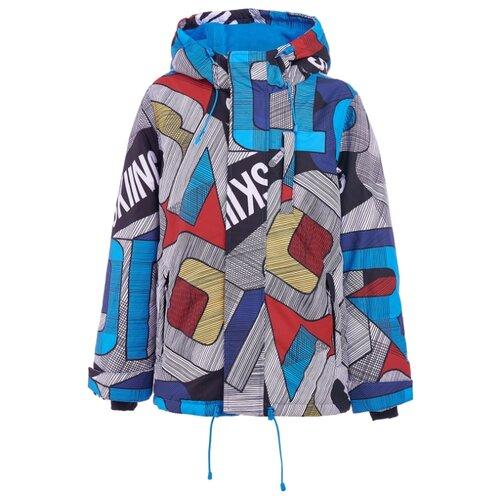 Купить Куртка Button Blue Active 219BBBA41010013 размер 128, серый/голубой, Куртки и пуховики