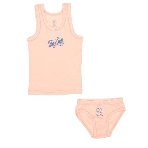 Купить Комплект нижнего белья RuZ Kids размер 128-134, персиковый, Белье и купальники
