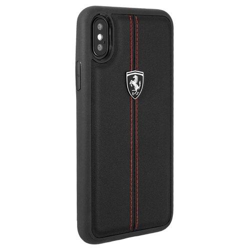 Купить Чехол Ferrari Heritage Leather Hard Case для Apple iPhone X черный