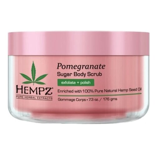 Hempz Скраб для тела Гранат, 176 г hempz triple moisture herbal whipped creme body scrub скраб для тела тройное увлажнение 176 гр