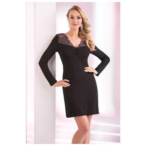 Сорочка Donna, размер XXL, черный сорочка donna размер xxl бордовый