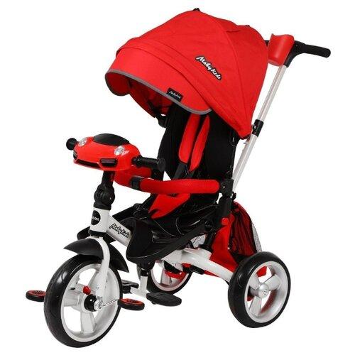 Трехколесный велосипед Moby Kids New Leader 360° 12x10 Eva Car красный