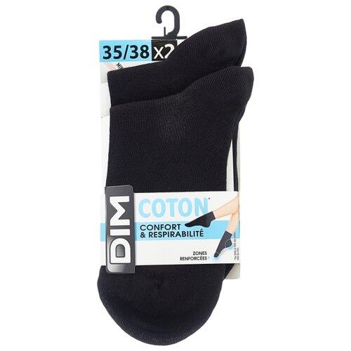 Носки DIM 024V, 2 пары, размер 35-38, черный носки 017d 2 пары dim 35 38 черный