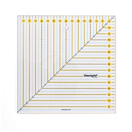 Купить Prym Линейка для пэчворка квадрат 8 х 8 дюймов прозрачный, Инструменты и аксессуары