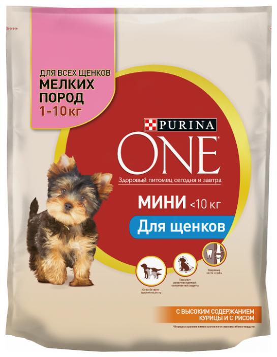 Корм для щенков Purina ONE курица с рисом 600г (для мелких пород)