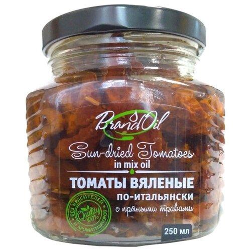 Томаты вяленые по-итальянски с пряными травами Brand Oil стеклянная банка 250 мл пудовъ морковный хлеб с пряными травами 500 г