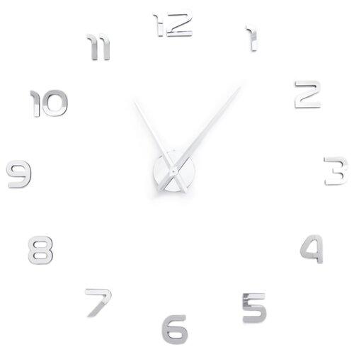 Часы настенные кварцевые 3D Decor Oracle Standart 100 см серебро
