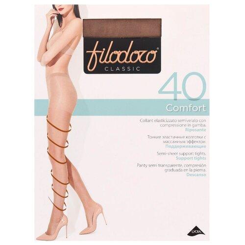 Колготки Filodoro Classic Comfort 20 den, размер 5-XL, glace (коричневый) колготки filodoro classic dora 20 den размер 5 xl glace коричневый