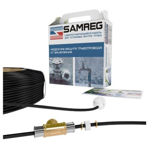 Греющий кабель саморегулирующийся SAMREG 17HTM-2CТ 1 м греющий кабель теплый пол 1