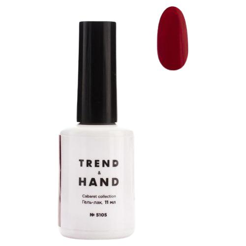 Купить Гель-лак для ногтей Trend&Hand Cabaret, 11 мл, оттенок 5105 Red Velvet